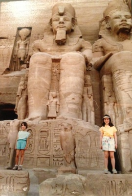 My sister (left) and me (right) in Egypt, circa 1986.