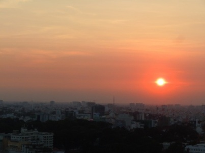Sunset over Saigon from 23 at the Sheraton
