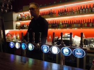 The large draft selection at Micro Bar