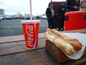 Icelandic hot dog-- a must-try!