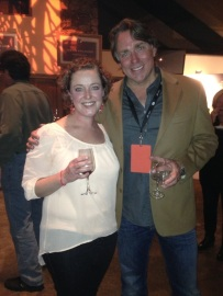 With John Besh. I can't wait to go to New Orleans and eat and his restaurant. I'm sure he'll let me back in the kitchen and everything.