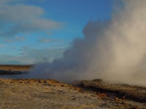 Strokkur erupting.