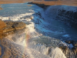 Rainbow at Gullfoss.