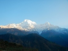 Annapurna South and Hiunchuli from Gandrok.
