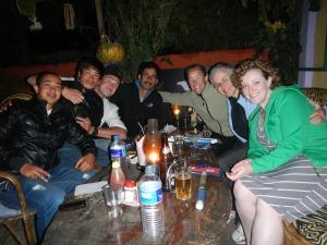 Celebration dinner at Silk Road.