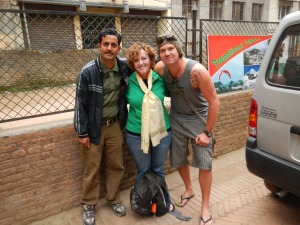 Gokal, me and Dan. And the van that'll take me away.