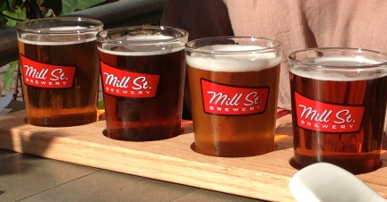 Sampler at Mill Street Brewing.
