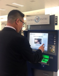 This guy could be James Bond because he's getting through customs so quickly. That'll be me. Photo courtesy of US Customs and Border Protection.