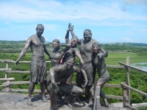 After the mud volcano.