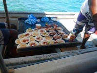 Fresh ceviche on the water