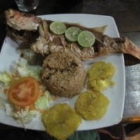 A typical Colombian lunch