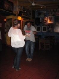 An impromptu dance party