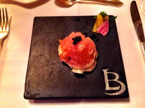 Just one of the many gorgeous dishes at The Left Bank.