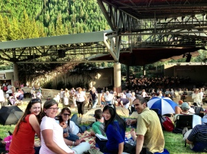 Just getting some culture at a Bravo! performance in Vail.